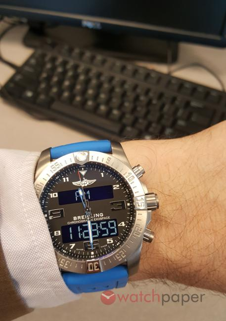 One more wrist shot of the Breitling Exospace B55