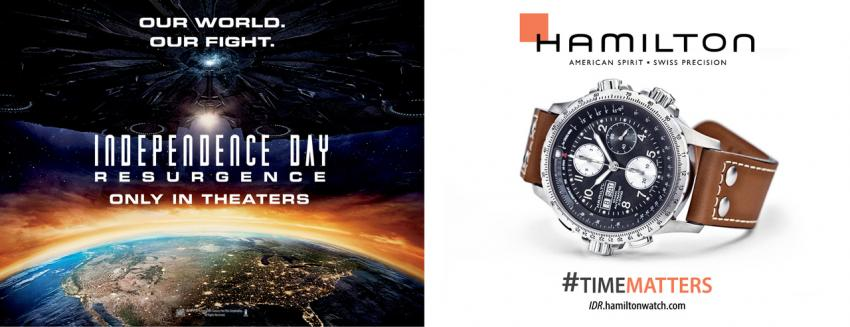The Hamilton Khaki X-Wind is defending our planet agains alien invasion in 20th Century Fox's new blockbuster, Independence Day: Resurgence.