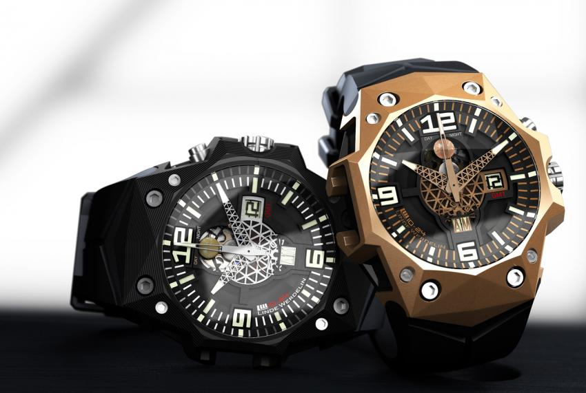 3DTP carbon and gold Linde Werdelin LW 10-24