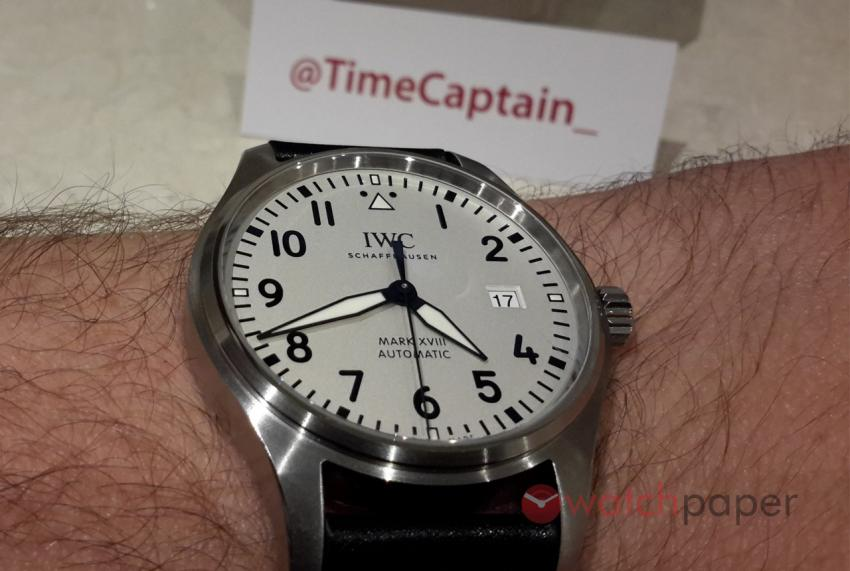 TimeCaptain's latest trophy, IWC Pilot's Watch Mark XVIII (Ref.  IW327002)