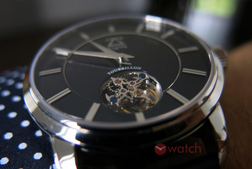 A closer look at the tourbillon of the Zion Apollo