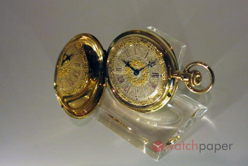 Women's pocket watch Nr. 6 118, by Moritz Grossmann for his second wife, about 1880. Museum of German Watchmaking Glashütte