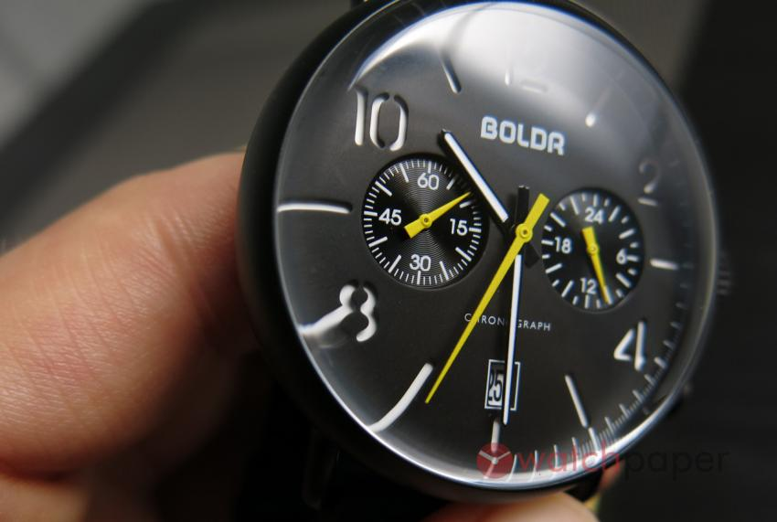 Another look at the dial of the BOLDR Journey Chronograph