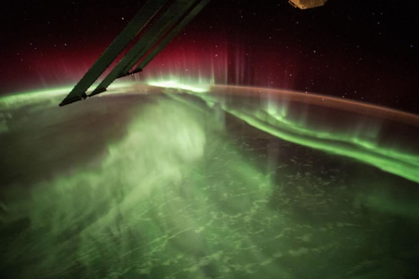 This Night Earth Observation of an Aurora Borealis was captured by NASA astronaut Scott Kelly