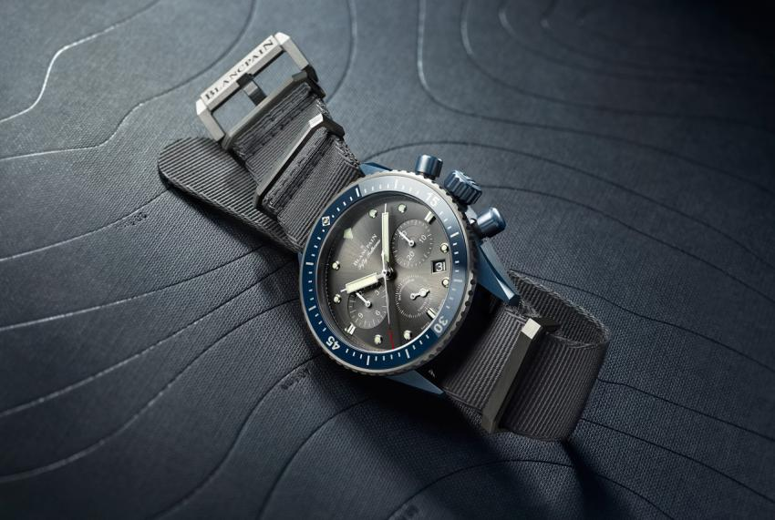 Blancpain Bathyscaphe Flyback Chronograph Blancpain Ocean Commitment II (BOC II), the first watch with an all-blue ceramic case.