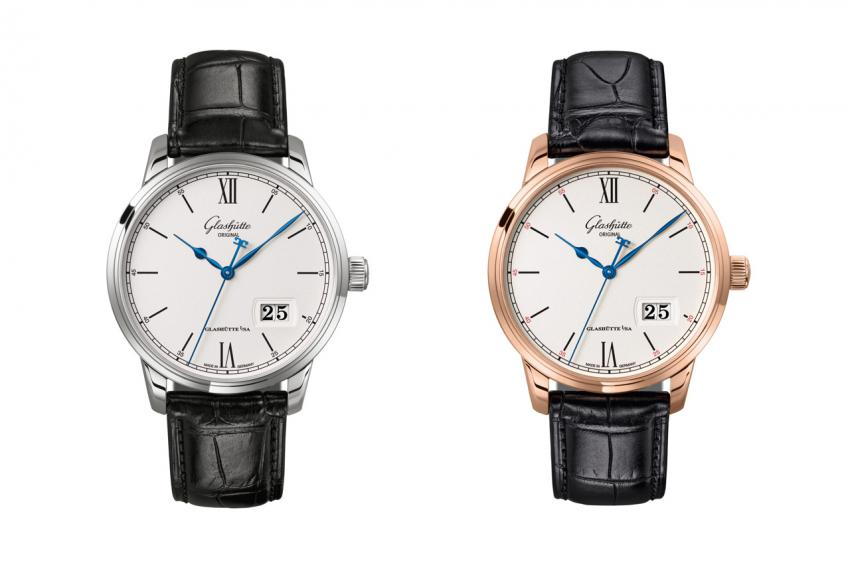Glashütte Original Senator Excellence Panorama Date in stainless steel and rose gold