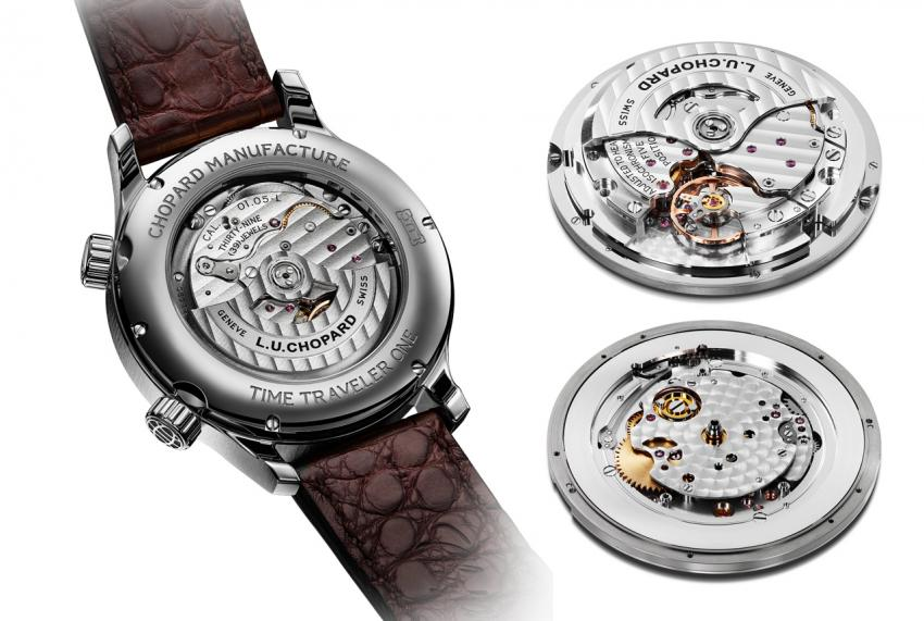 The Chopard L.U.C Time Traveler One is powered by the Calibre 01.05-L, with 60-hours of power reserve.