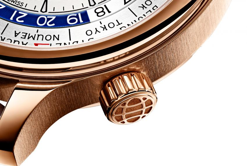 A closer look at the rose gold Chopard L.U.C Time Traveler One Ref. 161942-5001.