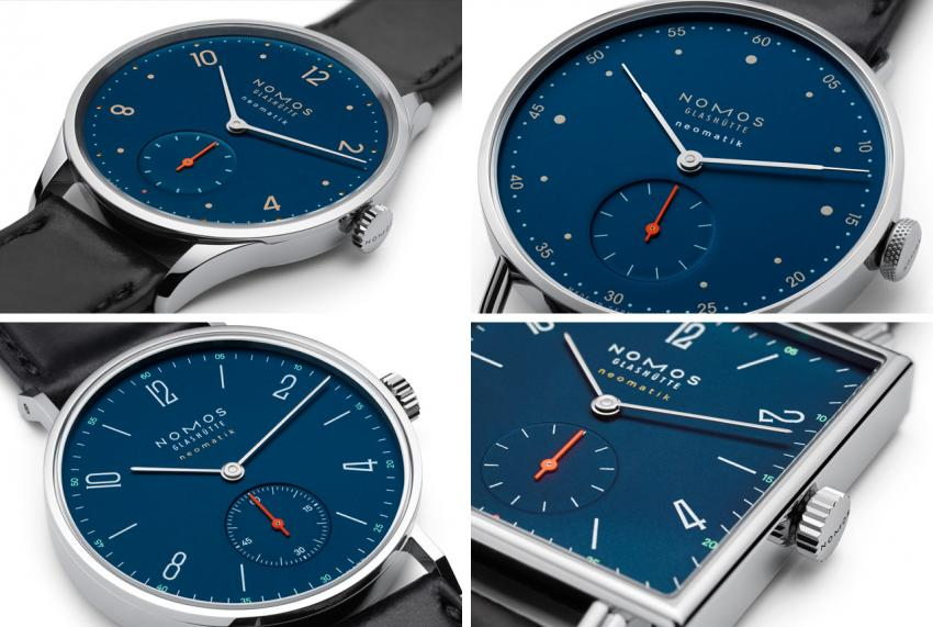A close look at the new NOMOS Neomatik Nachtblau collection