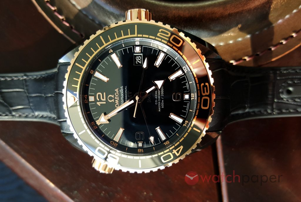 "Omega Seamaster Planet Ocean ""Deep Black"" replica"