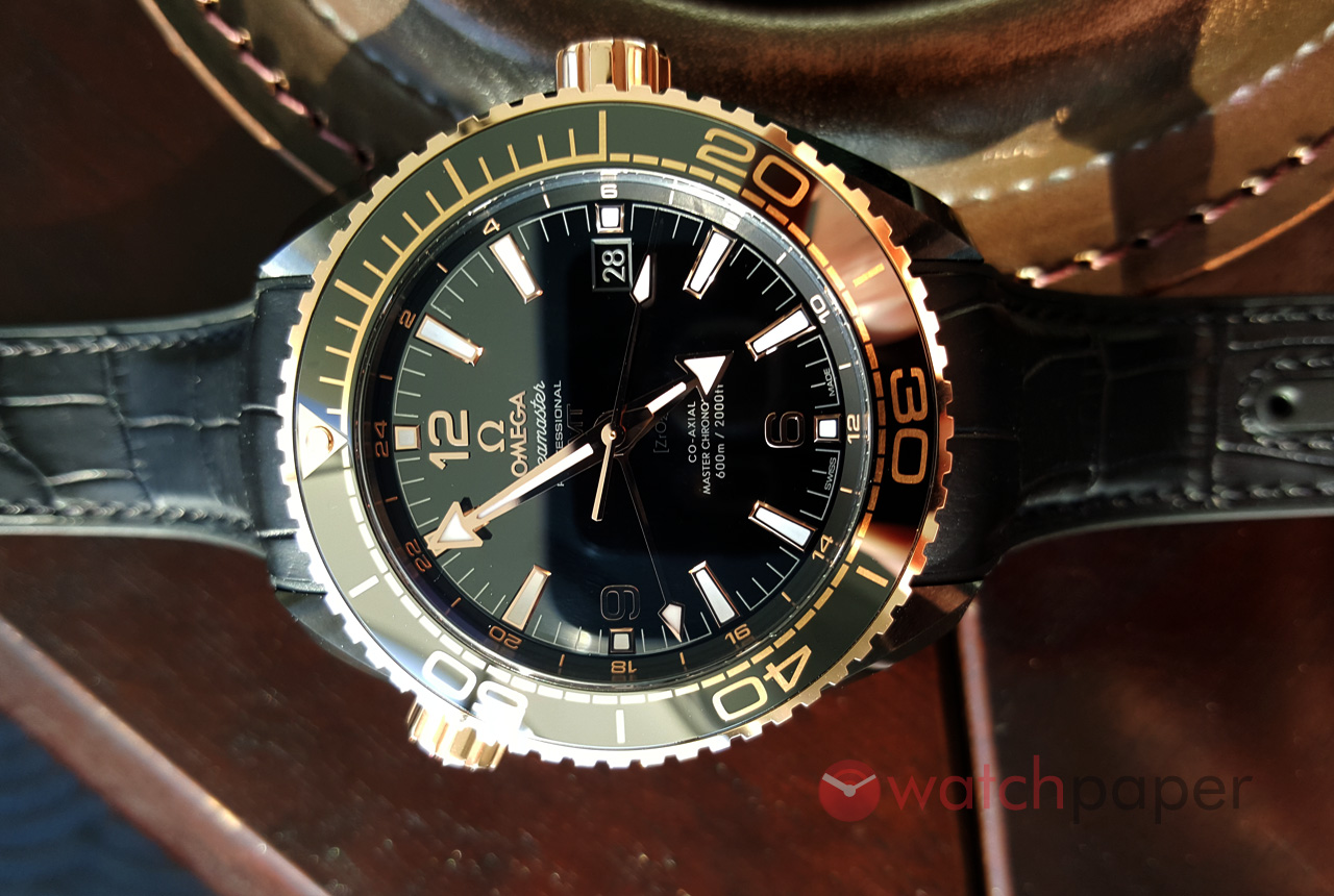 omega i watches seamaster watch orange black mens planet ocean bezel