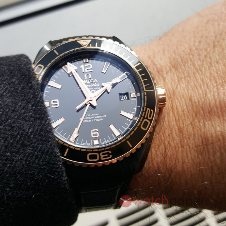 "Omega Seamaster Planet Ocean ""Deep Black"" copy watch"