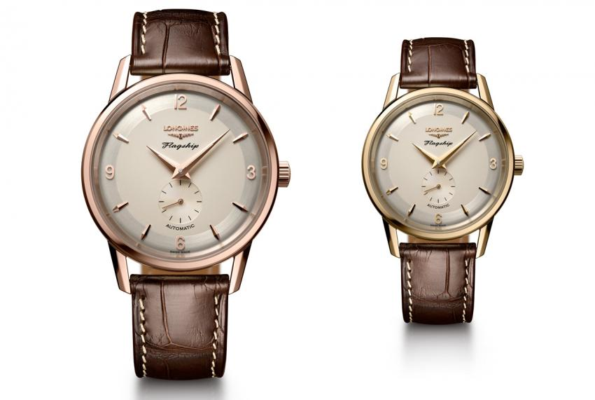 Longines Flagship Heritage – 60th Anniversary 1957-2017, in rose gold and yellow gold
