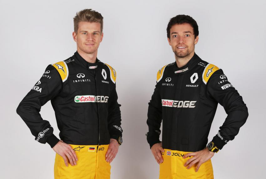 Renault Sport Formula One Team drivers, Nico Hulkenberg and Jolyon Palmer