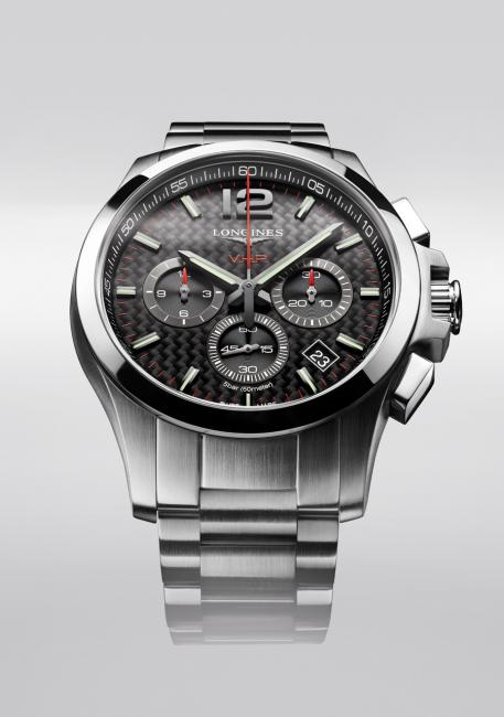 Longines Conquest V.H.P. chronograph with carbon dial