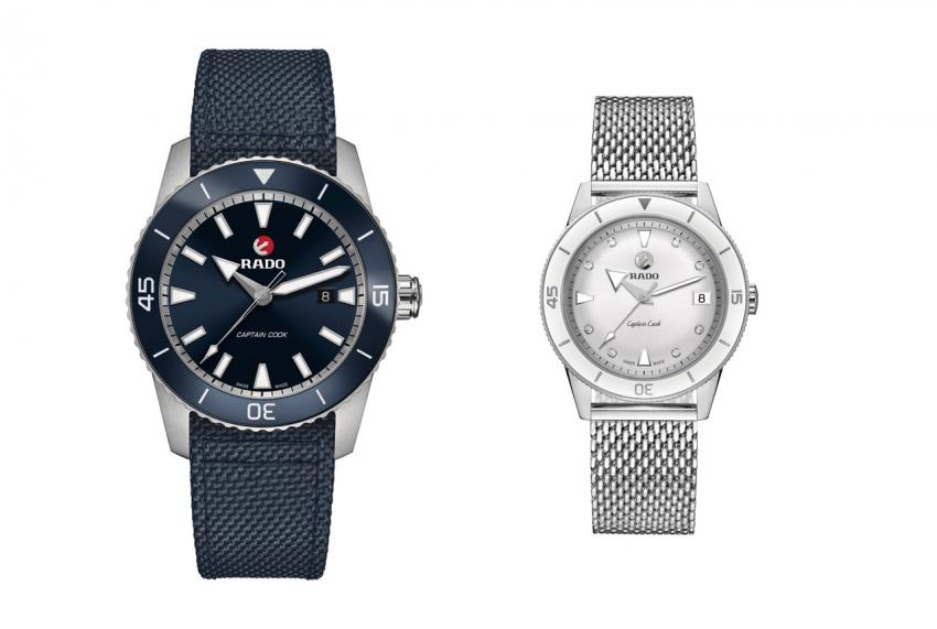 The 45 mm version of the new Rado Captain Cook and the 37 mm Captain Cook for ladies.