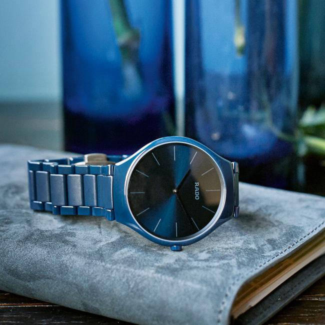 Rado True Thinline Colours polished blue (Ref. 140.0261.3.020)