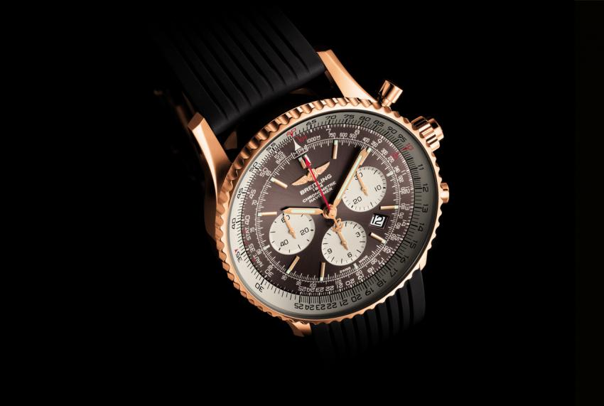 Breitling Navitimer Rattrapante gold, powered by the new Caliber B03