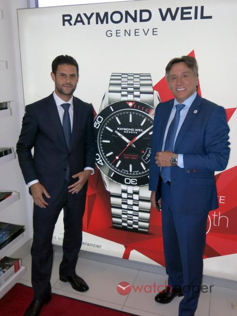 Elie Bernheim, CEO of Raymond Weil and Paul Cormier, owner of Création Paul H