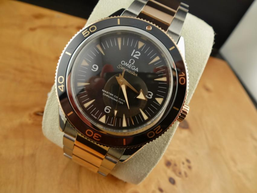 Omega Seamaster 300 Master Co-Axial 41mm Two Tone Stainless Steel / Sedna Gold Black Dial