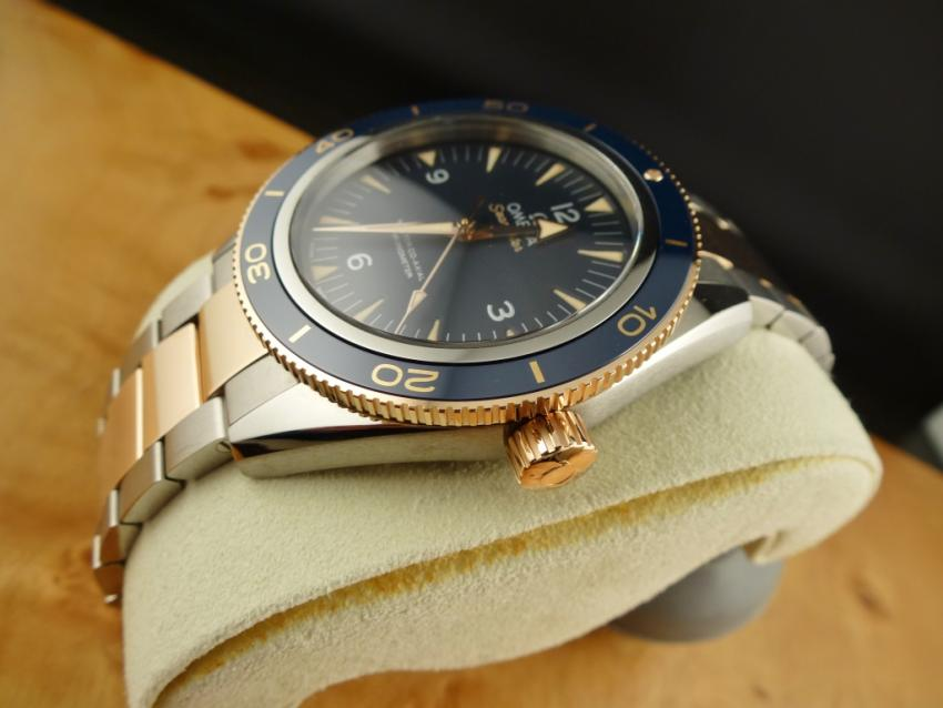 Omega Seamaster 300 Master Co-Axial 41mm Two Tone Titanium / Sedna Gold Blue Dial