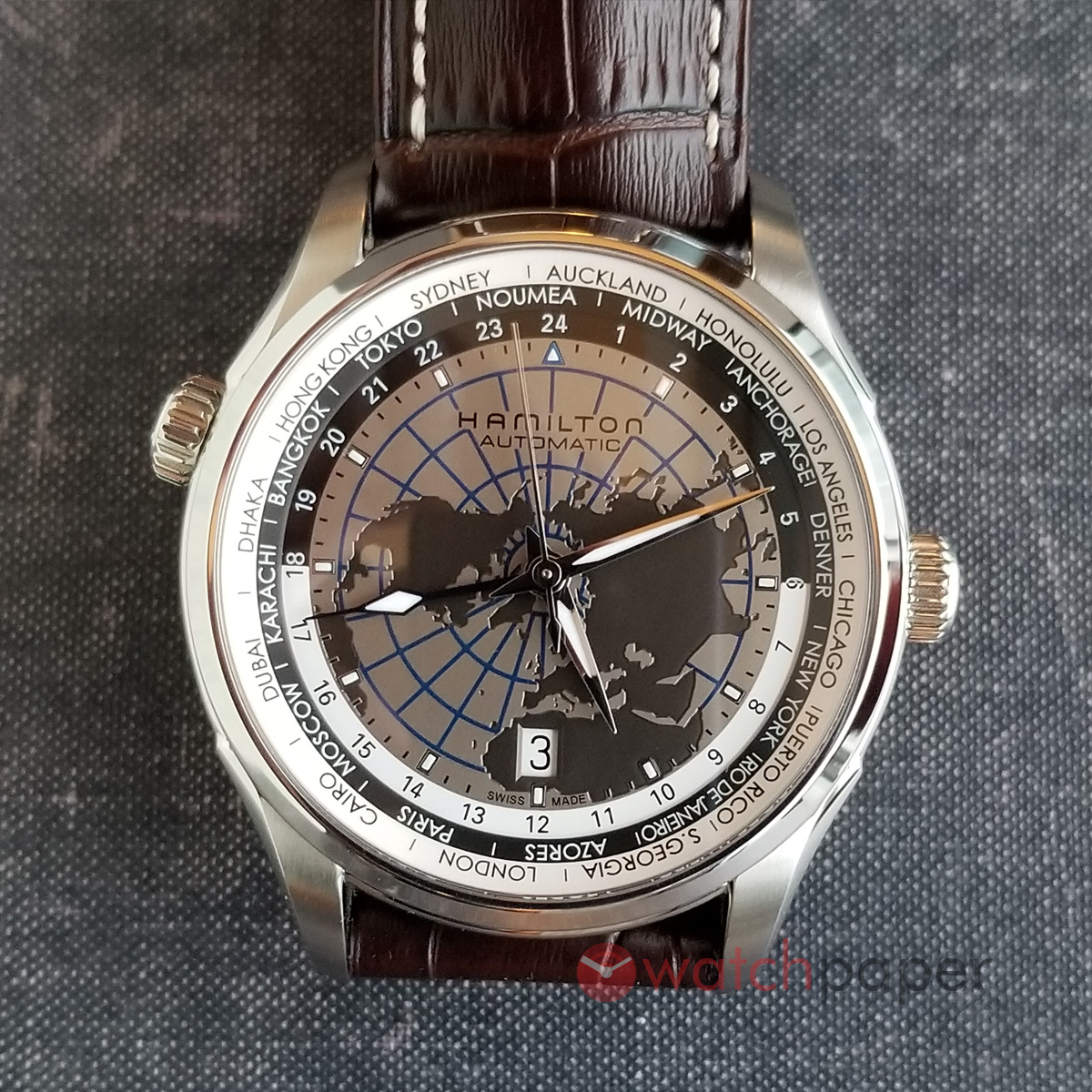 Hamilton Jazzmaster GMT World (Ref. H32605581)