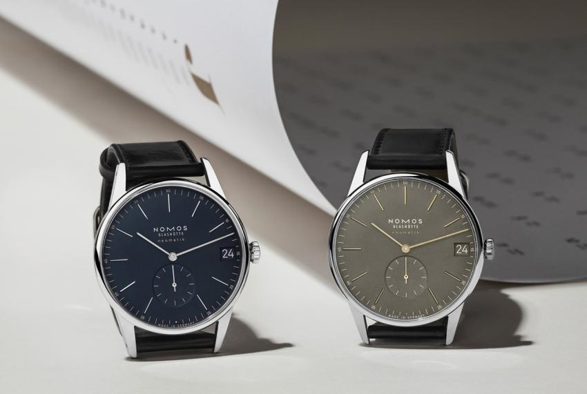 Nomos neomatik 41, now in midnight blue and olive gold