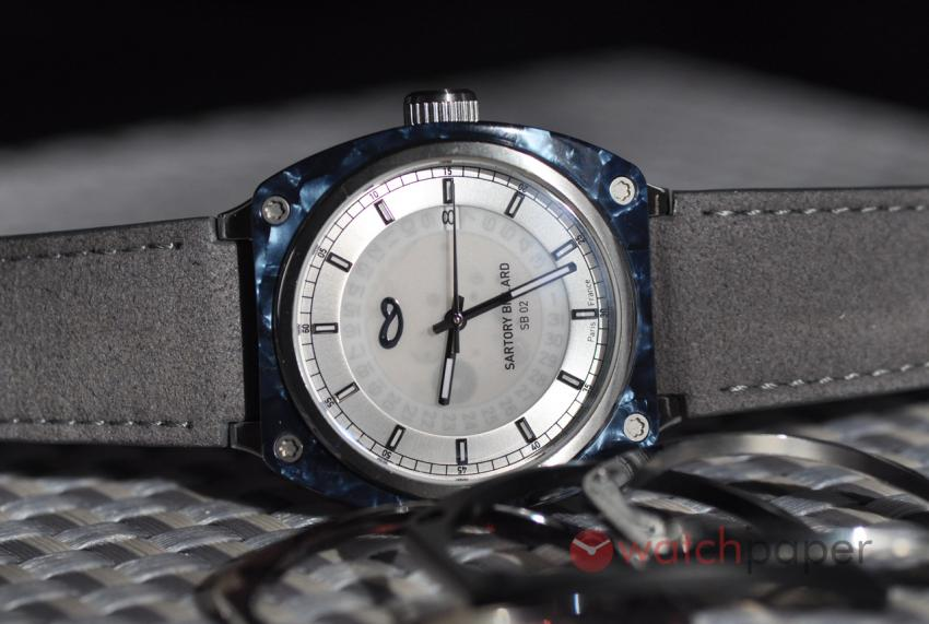 Sartory Billard SB02 with blue acetate bezel