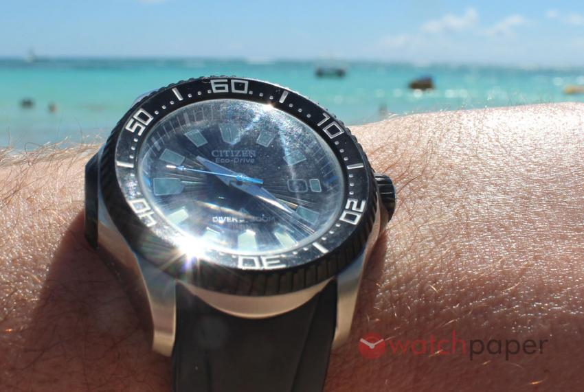 Citizen Eco-Drive at the beach