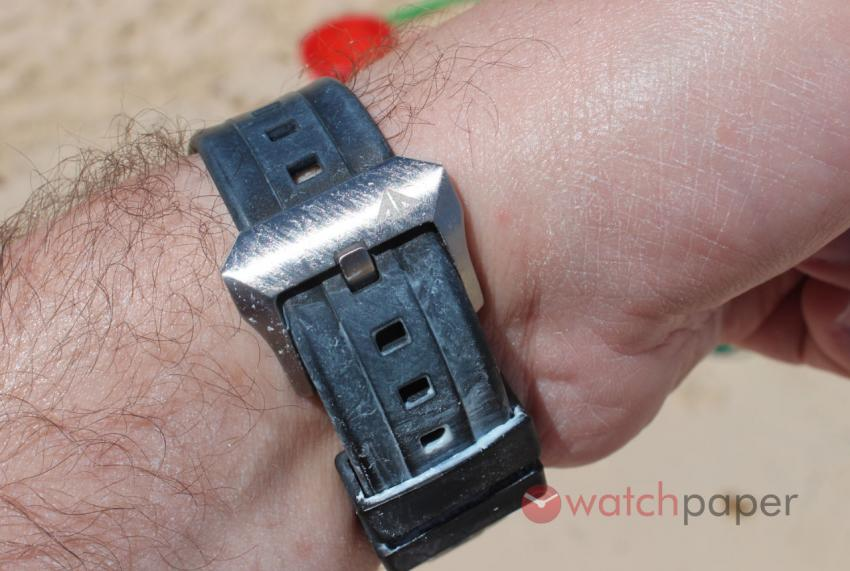 Citizen Eco-Drive strap and buckle on the beach