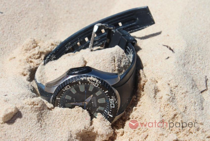 Citizen Eco-Drive in the sand