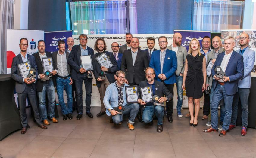 Winners of AuroChronos Festival 2018 with Jury members and organizors at the Gala!
