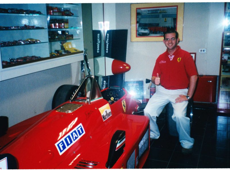 TimeCaptain visiting Ferrari in Maranello in 2002