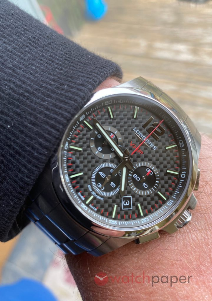 Longines Conquest V.H.P. 44mm chronograph