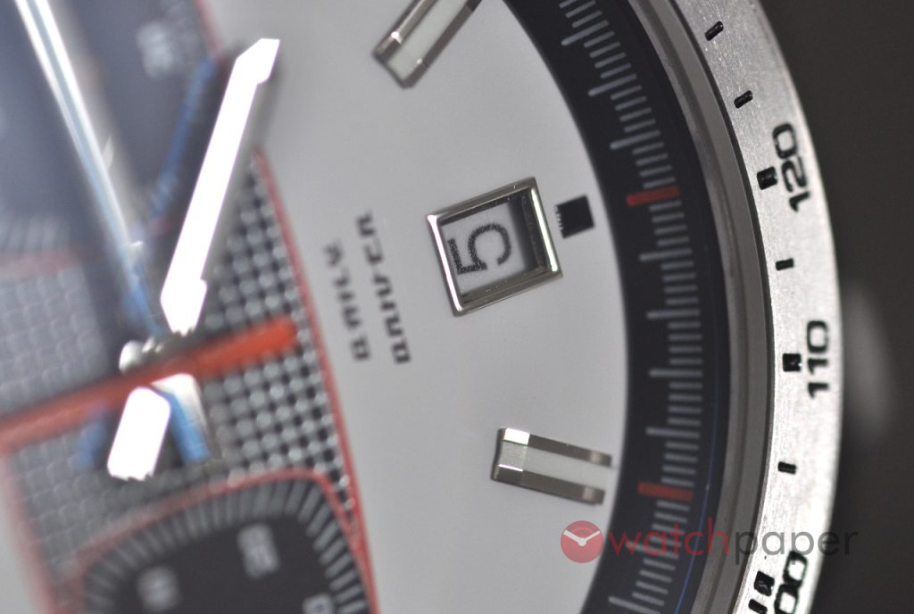 Macro view of the Straton Daily Driver Mark II dial